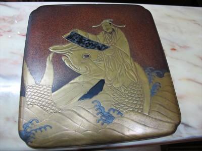 金蒔絵の文箱
